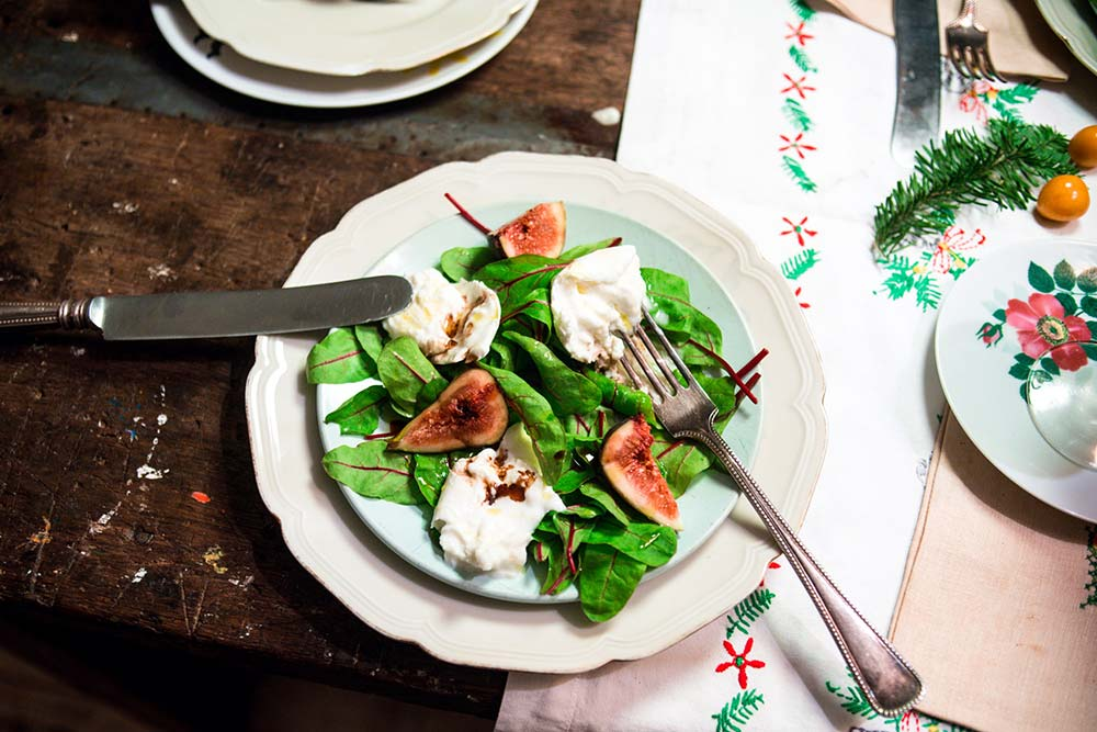 Winterse salade met verse vijgen (kerstmenu)
