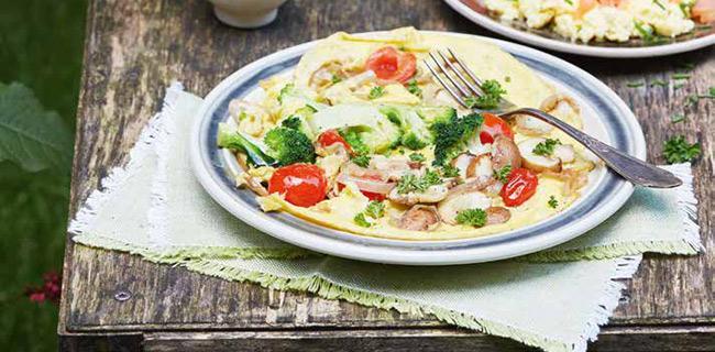 Hoe word je 100 recept groente-omelet