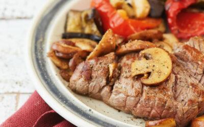 Biefstuk met geroosterde groente