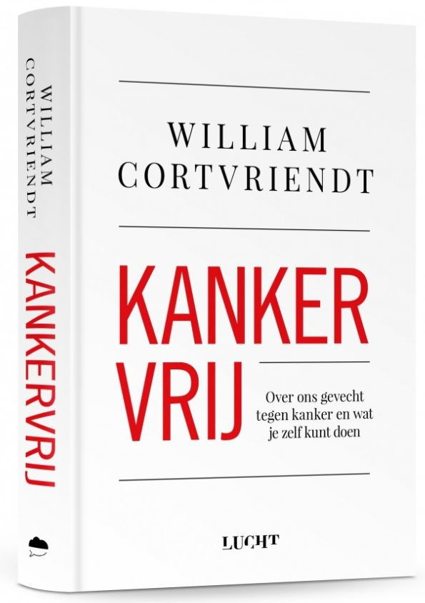 Kankervrij van auteur William Cortvriendt boekomslag